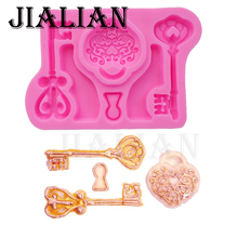 Food grade silicone Love shape key fondant silicone mold for cake decorating tools cooking Sugarcraft T0712