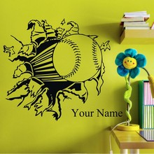 Custom made Football Sport DIY Name Removable Kids Home Decoration Decor Wall  Sticker Mural stickers-You Choose Name and Color