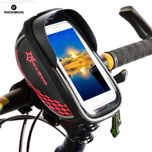 ROCKBROS Bike Bicycle Bag Touch Screen Front Tube Bicycle Bag MTB Road Cycling Frame Saddle Bag Package Bike Accessories(China)