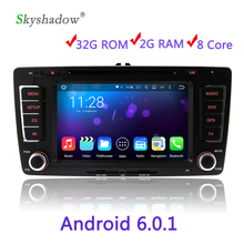 Eight core 2DIN HD Media Video Android 6.0.1 Car DVD Player For VW Skoda Octavia 2009 2010 2011 2012 2013 2G RAM 32G ROM WIFI