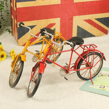 Vintage home decoration iron metal craft bicycle model gift random Hand Made Birthday gift Miniatures free shipping