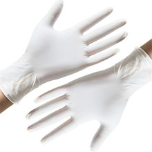 100 PCS High Grade Disposable Beige Latex Gloves Household Clean Gloves  Acid and Alkali Laboratory Glove Medical Rubber Gloves