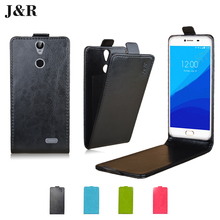J&R Leather Case For Vernee Thor 5.0inch Retro Vintage Flip Cover For Vernee Thor 4G LTE Vertical Protective Phone Bag & Cases