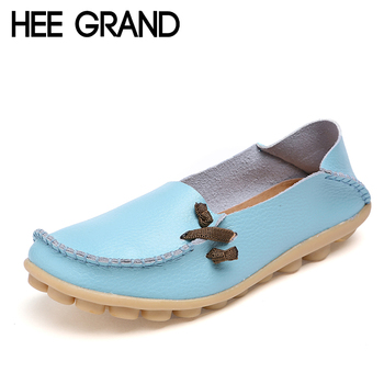 HEE GRAND Women Ballet Flats Summer Style Casual PU Leather Platform Shoes Woman Loafers Spring 16 Colors Size Plus 35-44 XWC225