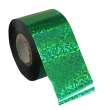 Plastic Nail Transfer Foil Fingernails Decal Glitter Green Color Nail Tip Decoration Sticker DIY Accessories Suppliers WY272(China)