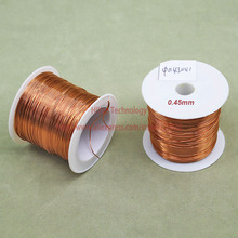 (100Grams/lot) Polyurethane Enameled Copper Wire Diameter 0.45MM Varnished Copper Wires QA-1/155 2UEW Transformer Wire Jumper(China)