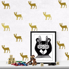 DIY Christmas Decoration Elk Deer Wall Stickers Decals Kids Children Room Home Decoration Vinyl Wall Art Stickers 7051761