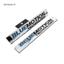 OTOKIT New Car Styling Metal Emblem BLUE MOTION TECHNOLOGY Sticker Tail Head Vehicle Car Styling for VW MAGOTAN CC Sagitar Golf(China)