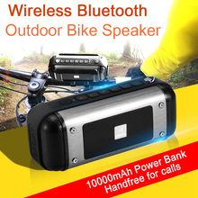 16W Super Bass Outdoor Bluetooth Speaker 10000mAH Power Bank Portable Wireless Car bike 3D Stereo Speaker Loudspeaker with Mic(China)