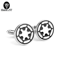 Vintage Movie Cufflinks Star Wars French New Jewellery Luxury Custom Enamel Brass Stamping Mens Cufflinks gifts