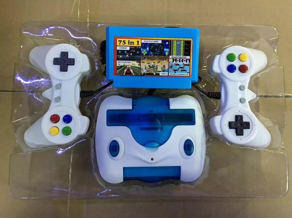 Portable Classics video game consoles 75 games play card+one card Dual gamepad Game console