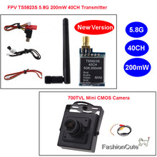 "TS5823S 40CH 5.8G 200mw Telemetry Audio Vidio Wireless AV TX Transmitter + 700TVL 1/4"" CMOS MTV FPV CCTV Camera for Mini FPV"