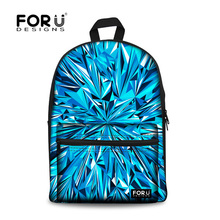 FORUDESIGNS Designer Female Women Bling Backpack School Girls Backpacks for College Students Campus Harajuku Backpack Bags