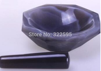 One pcs Lab FIRST-GRADE AGATE Mortar and Pestle , carnelian MORTAR<br>