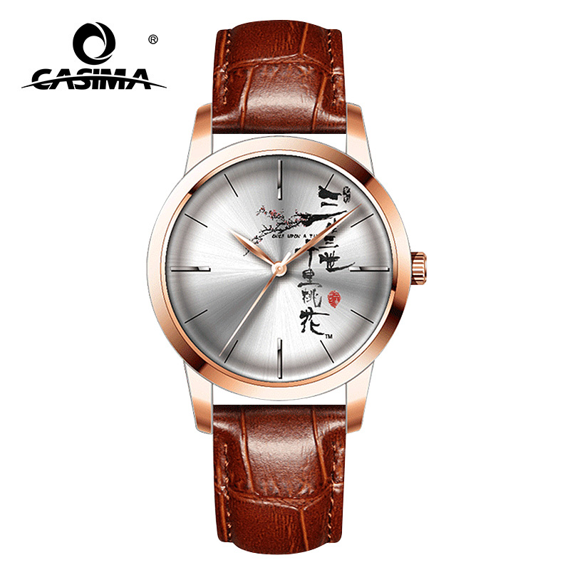 CASIMA luxury brand watches men waterproof leather casual quartz watches men women fashion couple clocks Relogio Masculino<br>