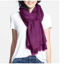 Solid Extra Large Long Encrypt 100% Wool Scarfs Wraps for Women Winter Pashmina Shawl Luxury Sagging Design 230X80CM Gifts(China)