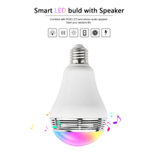 Newest type E27&E26 Wireless Bluetooth Speaker RGBW Color Smart LED Light Bulb Lamp Color Change Dimmable by IOS / Android APP