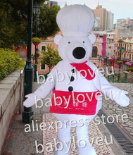 white chef bear Mascot Costume custom fancy chief bear costume anime cosplay kits mascotte theme fancy dress carnival costume