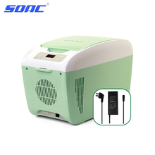 SOAC 8L Mini Fridge Dual  Use for Car Home 220V/12V Small Portable Fridge Electronic Cooler Warmer for Travel CR-082P