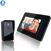 "SY815A11 7"" TFT 2.4G Wireless Video Door Phone System  Indoor And Outdoor Units With Doorbell Home Security Camera Monitor"