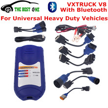 Better Than NEXIQ Auto Heavy Duty Truck Scanner Tool VXTRUCK V8 USB Link + Software With Bluetooth Wireless Diagnosis DHL Free