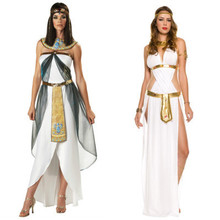2015 Halloween Clothes Women Sleeveless Arab Queen Of Egypt Cleopatra Cosplay Costume Ladies Sexy Fancy Dress Clothes