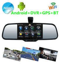 "5"" Android 4.0 dual-lens camera Car Rear view mirror Car DVR Bluetooth Wifi HD night vision Rear View camera GPS function MP4/5"