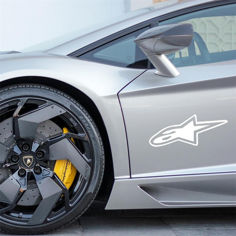 Cunymagos 3D Alpine Star Car Stickers and Decals 18cm7.6cm Car Body Window wall Stickers Car Styling (4)