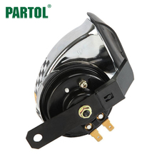 Partol 12V 510Hz Euro Motorcycle Speaker Sports Horn Car Sound Air Horn For Scooters/Mopeds,ATVs,Go-Karts,Vespas,Dirt Bikes,Pock(China)