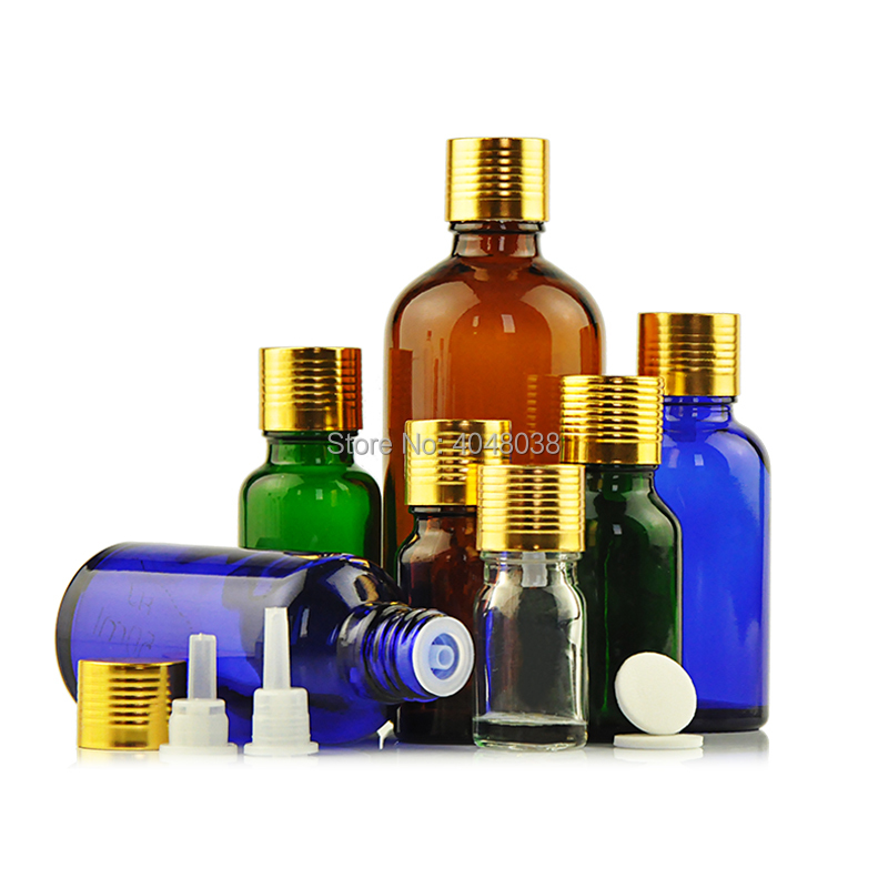 Cosmetic Container Empty Essential Oil Refillable Bottle Gold Thread Cap Perfume Vial with Inner Plug Glass Aroma Bottle 30 pcs (3)
