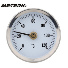 Bimetal Stainless Steel Surface Pipe Thermometer Temperature Gauge Spring termometro digitale thermometre estacion metereologica