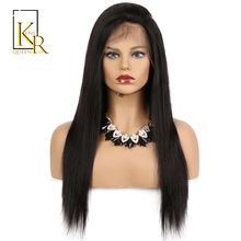 Lace Front Human Hair Wigs For Black Women Remy Brazilian Straight Black Hair Pre Plucked With Natural Hairline King Rosa Queen