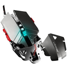 Professional 4000 DPI Adjustable Optical Mechanical Gaming Mouse Programmable 10 Button USB Wired Mice Competitive Game Mouse