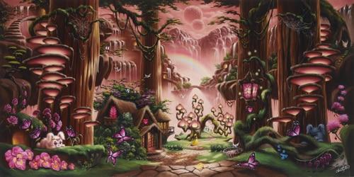 Horizontal Art fabric Party photography backdrops fairy tale secret forest photo background for portrait XT-3859<br>
