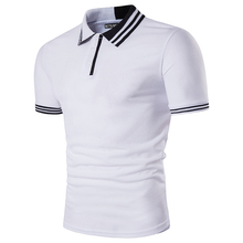 Brand Clothing Summer New Men's Fashion Polo Shirt Casual Male Top Stitching Lapel Short Sleeve Leisure Camisa Polo Homme B4039