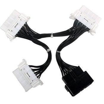 OBD OBD2 16Pin Cable de Extensión Divisor y Conector de 16 Pines Macho A Hembra Adaptador de Conector Para Elm327