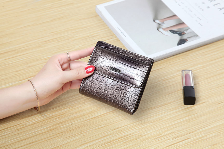 VICKAWEB Mini Wallet Women Genuine Leather Wallets Fashion Alligator Hasp Short Wallet Female Small Woman Wallets And Purses-IMG_6455