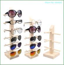 New Design Popular 3 4 5 6 Pairs of Environmental Detachable Tree grain Wood Glasses Display Stand Holder Organizer Prop