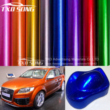 Premium Glossy Metallic Purple Vinyl wrap Car Wrap Styling With Air Bubble Gloss Pearl metallic Vinyl Sticker with air bubbles(China)