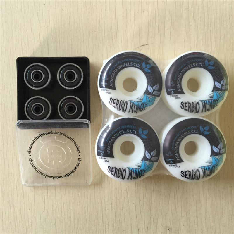 ELEMENT Thriftwood  ABEC-3 skateboard bearing with Multi Brand 51-54MM 100a &amp;101a Skate Wheels for street skateboarding <br><br>Aliexpress