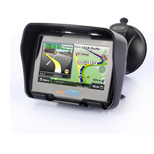 fodsports 4.3 Inch Motorcycle GPS Navigator IPX7 Waterproof Bluetooth motorbike Navigation 256M RAM 8GB Flash free map