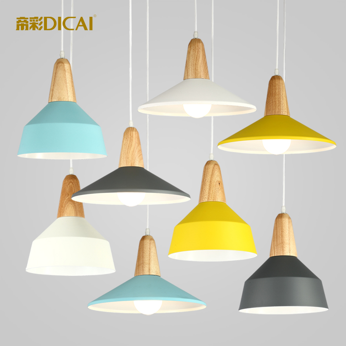 Emperor color Nordic personality pendant lamp bedroom bedside lamp creative simple single solid wood small pendant lamp<br><br>Aliexpress