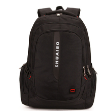 SHUAIBO Polyester Men's 15.6 Inch Laptop Backpacks Casual Fashion Travel Bags High Quality Brand School Bags X900(China)