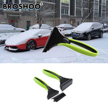 BROSHOO Car Snow Shovel With Silica Gel Car Snow Removal Deicing ABS Ice Shovel Snow Remove Tool Ice Scraper Free shipping(China)