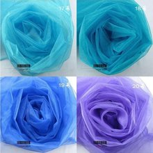 105etres/1roll.Organza with 24 colors.Breadth:70-75cm.Organza suit for Chair sashes. Wedding Birthday Celebration Party.etc.