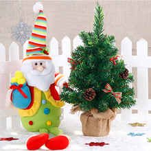 2017 45cm Christmas Tree Potted Ornament Decoration Desktop Crafts Office Child Toys Home Party Christmas Supply Decoration R013