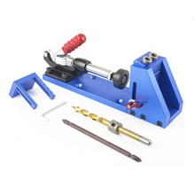 Pocket Hole Jig Kit Woodworking Step Drill Bit Wood Drilling and Stop Collar Pilot Hole Saw For Kreg Jig Manual Master System