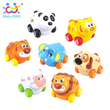 4PCS/Lot HUILE TOYS 376 Children's Education Toys Action Brinquedos Friction Animal Baby Toys Bebe Presentes Baby Toys Best Gift(China)