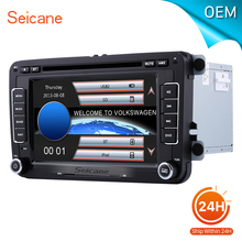 "seicane 7"" 2 din car radio DVD Player for 2010 2011-2013 VW Volkswagen POLO with bluetooth GPS Navigation Support Aux SD card(China)"