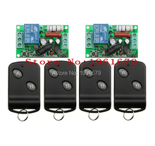 RF Wireless Remote Control AC 220 V 10 A 1 channel 2 Receiver +4 Transmitter Learning code simple operation(China)